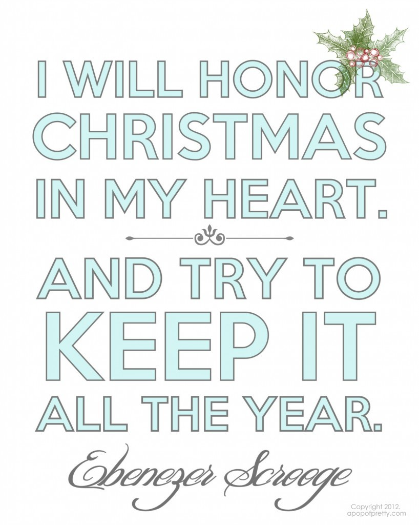 Free Christmas Printable - Scrooge