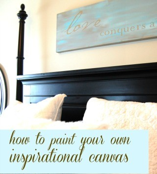 How to paint an inspirational quote canvas
