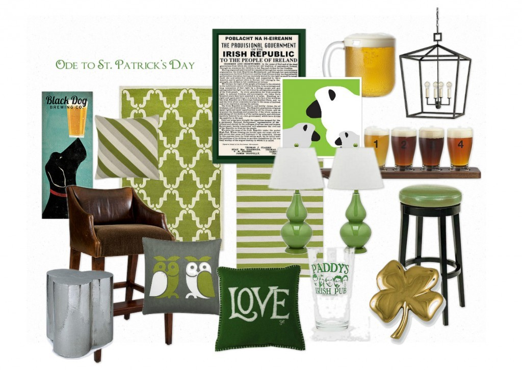 Home decor fun ode to st patricks day inspiration board a pop of