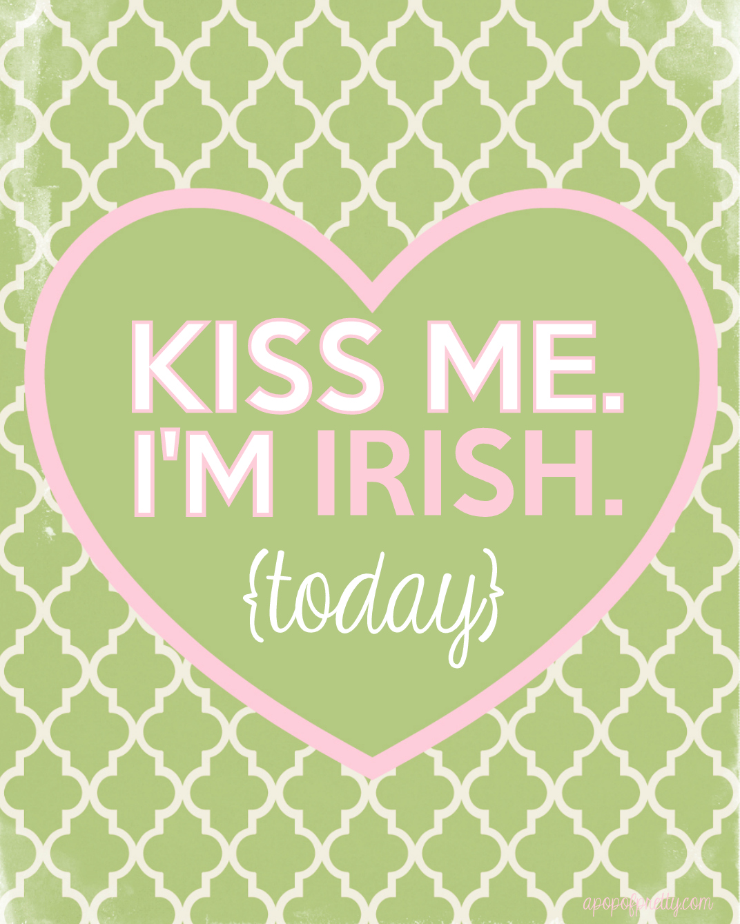 St Patricks Day Kiss me I'm Irish printable 2013-300dpi