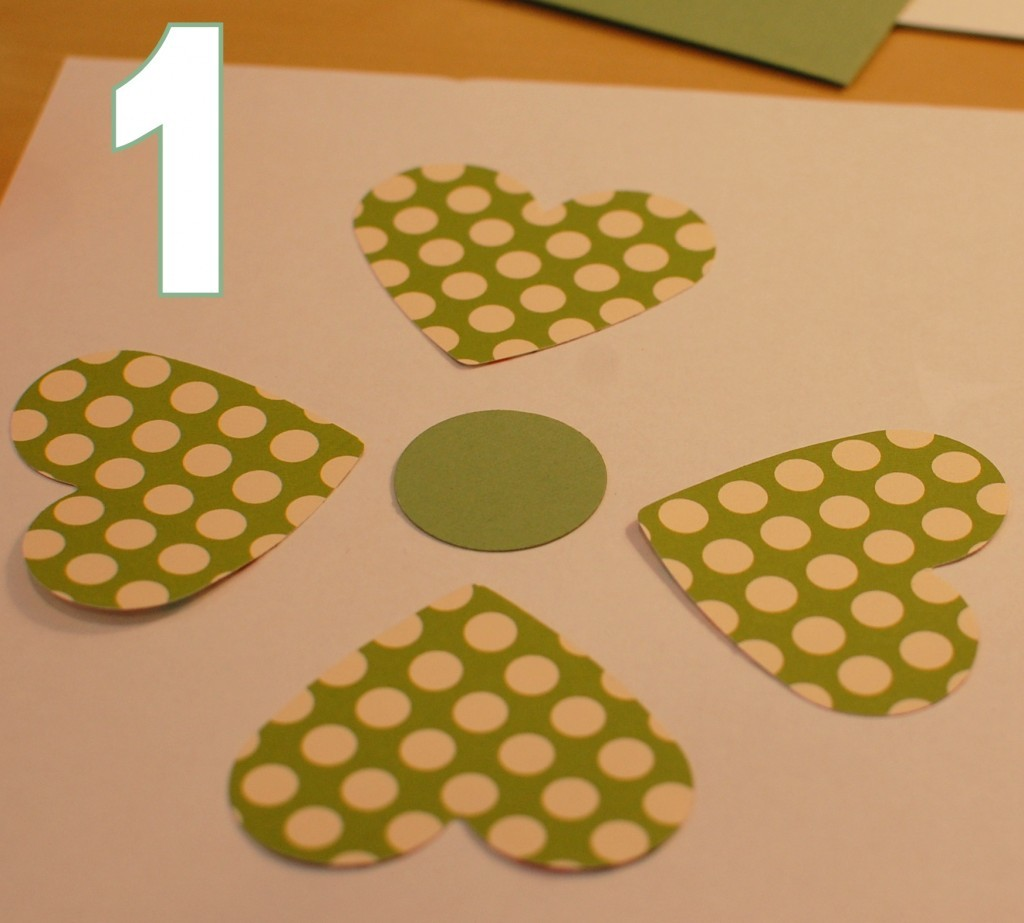 make a shamrock - step 1