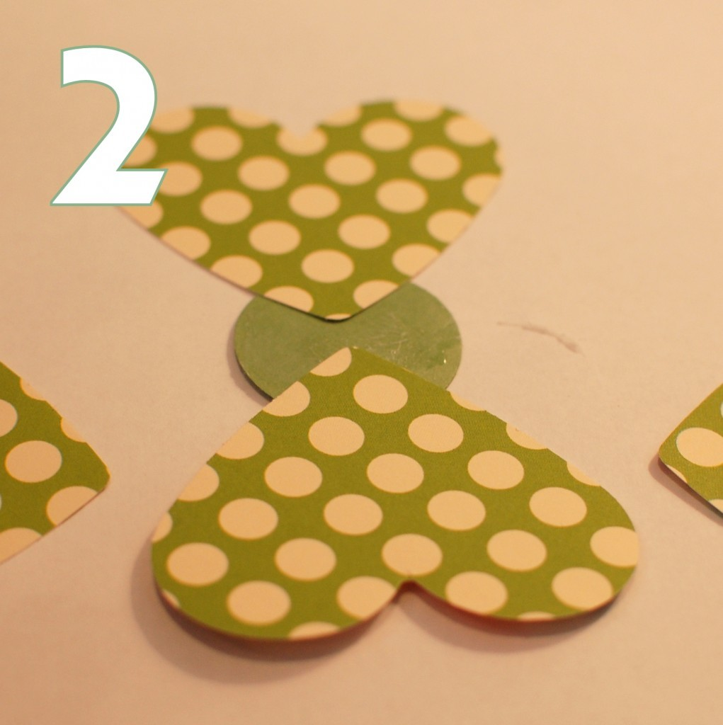 make a shamrock - step 2