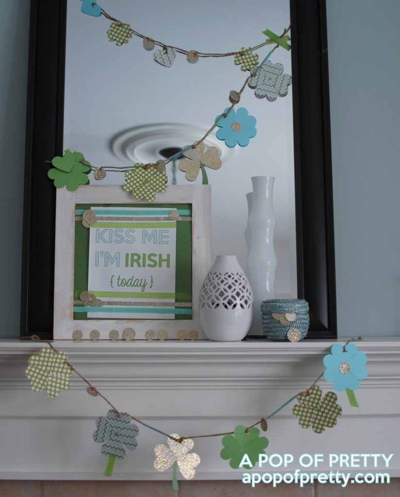 how to decorate a mantel for St Patricks Day