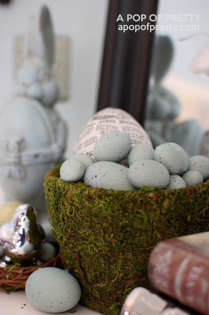 Easter images - Easter mantel decor