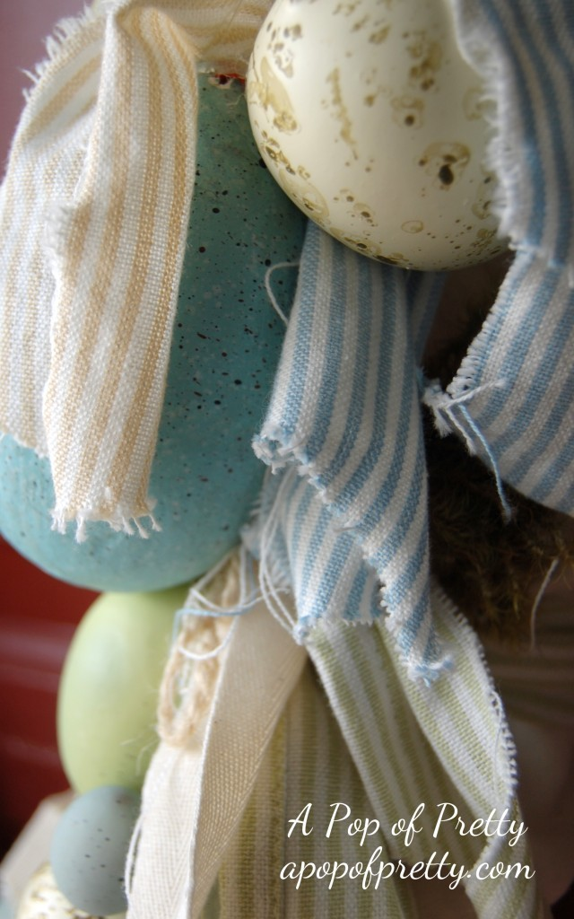 shabby chic Easter wreath