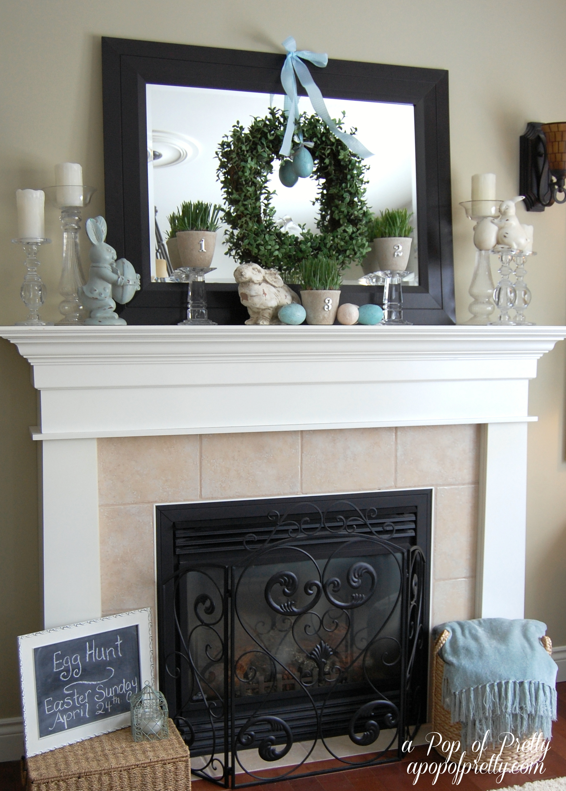 easter decorating ideas mantel 2011 a pop of pretty