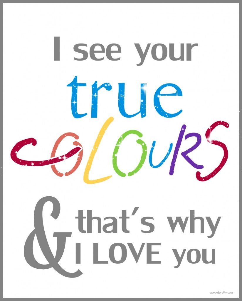 free printable - true colors-autism
