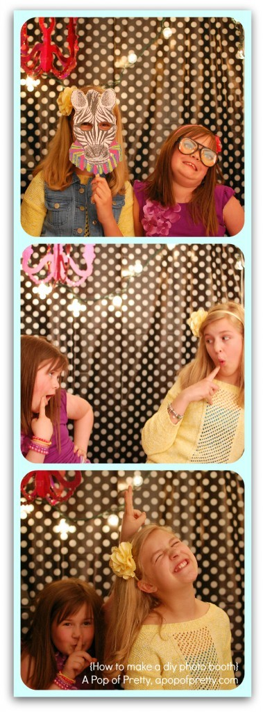 diy photo booth photo strip