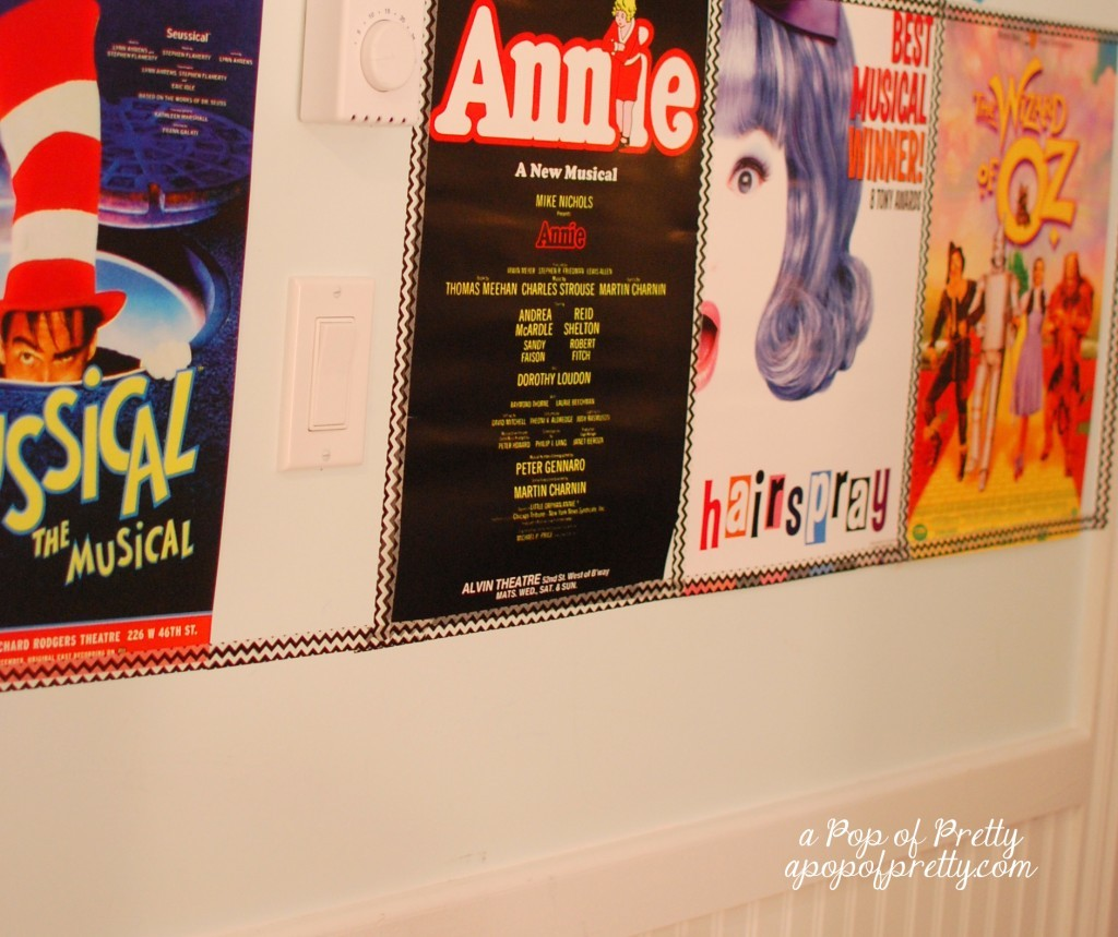 Diy broadway party decor party theme ideas a pop of for Broadway bedroom ideas