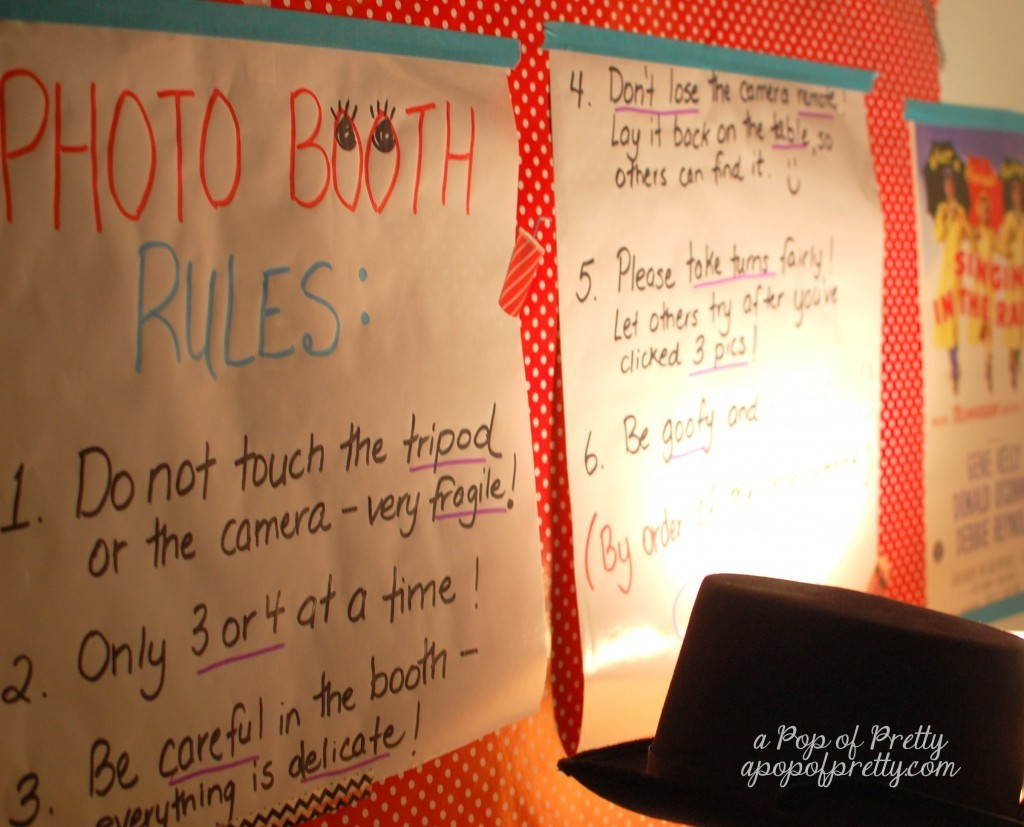 photo booth rules