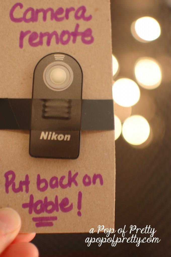 diy photo booth remote control