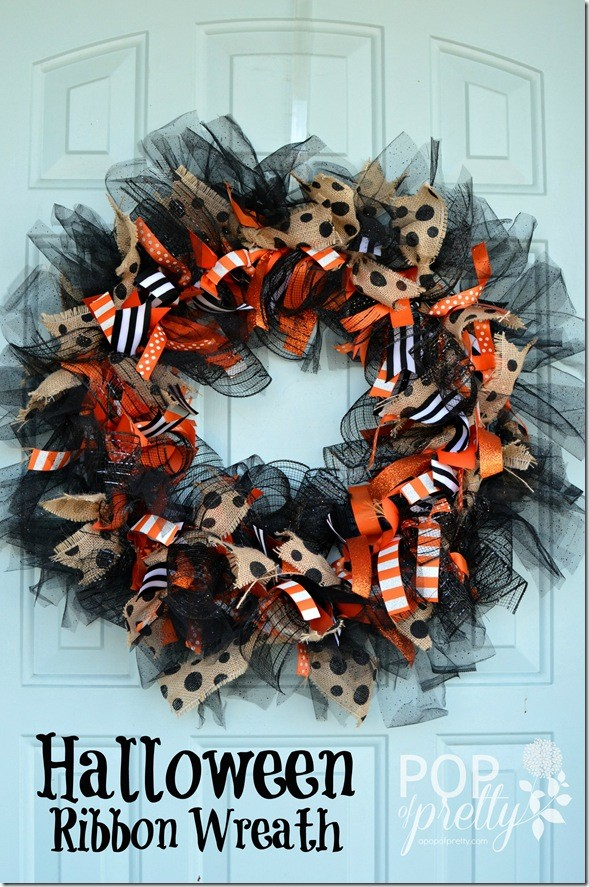 Halloween Ribbon Wreath - A Pop of Pretty