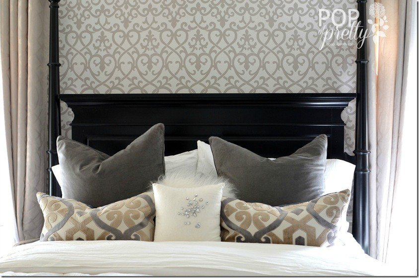 wallpaper accent wall bed