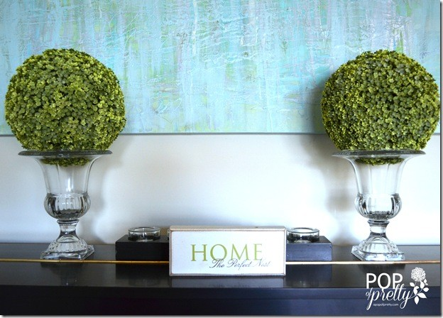 Create Your Own Art?  Yes you can.  {DIY watercolor effect painted canvas}