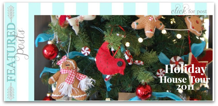 Red and Turquoise Holiday House Tour 2011