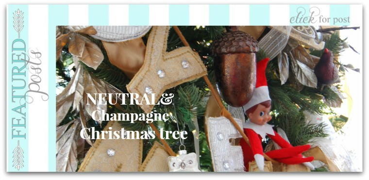 Neutral and Champagne Christmas Tree Decor