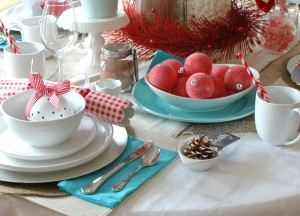 Cheerful Christmas Table {Canadian Tire} - A Pop of Pretty: Canadian