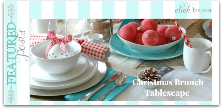 Christmas brunch tablescape
