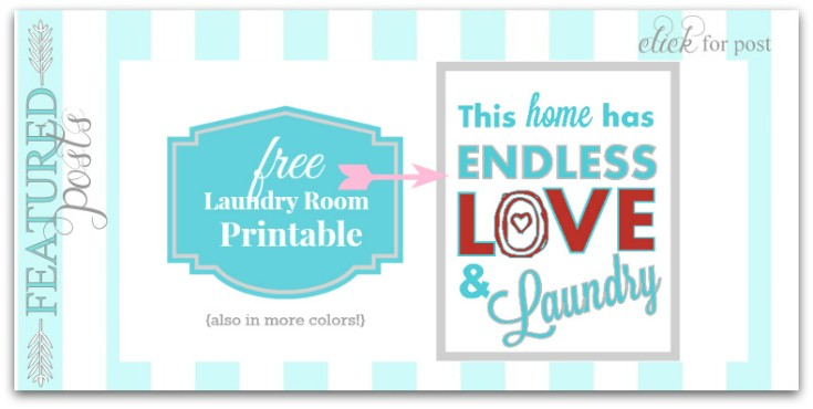 Free Laundry Room Printable - This home has endless love and laundry