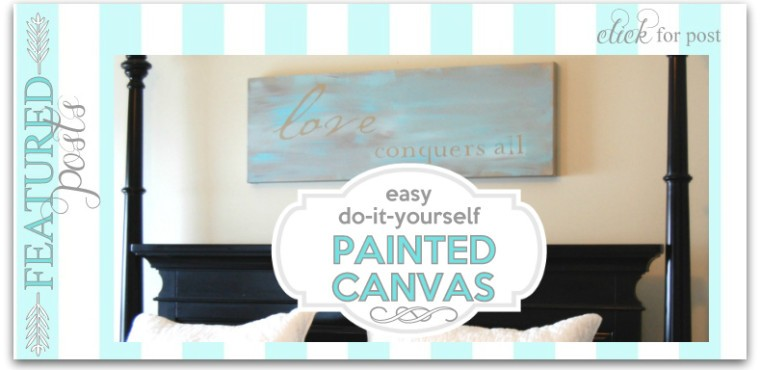 How to make a painted canvas