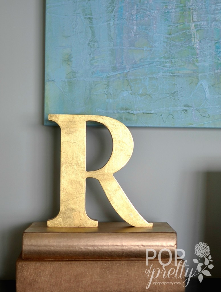 home accessories gold letter R