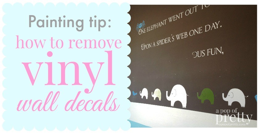 how to remove vinyl wall decals
