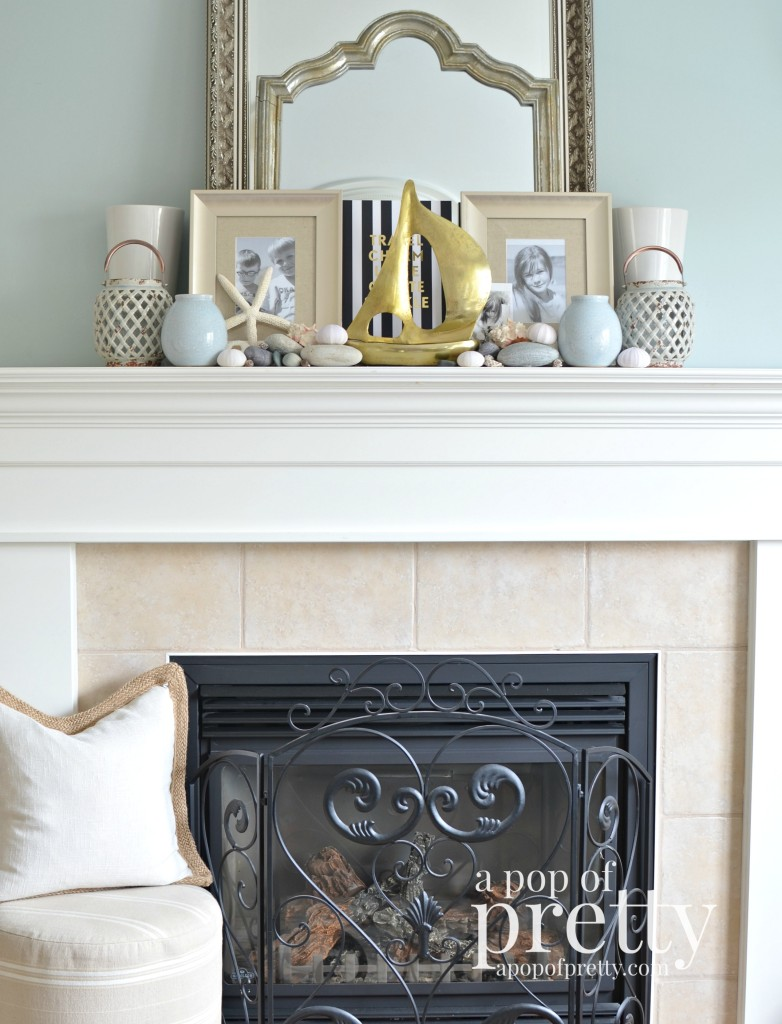 Summer Beach Mantel Decor2