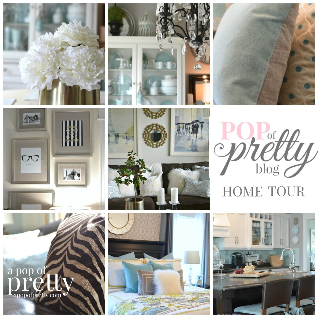Canadian Bloggers Home Tours-  A Pop of Pretty / Home Tour Collage