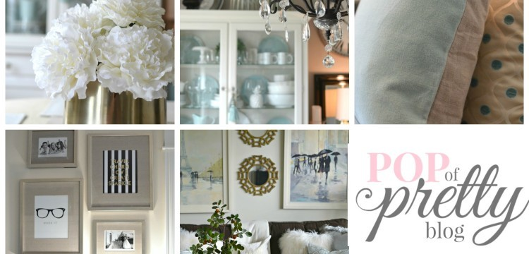 A Pop of Pretty / Home Tour Collage