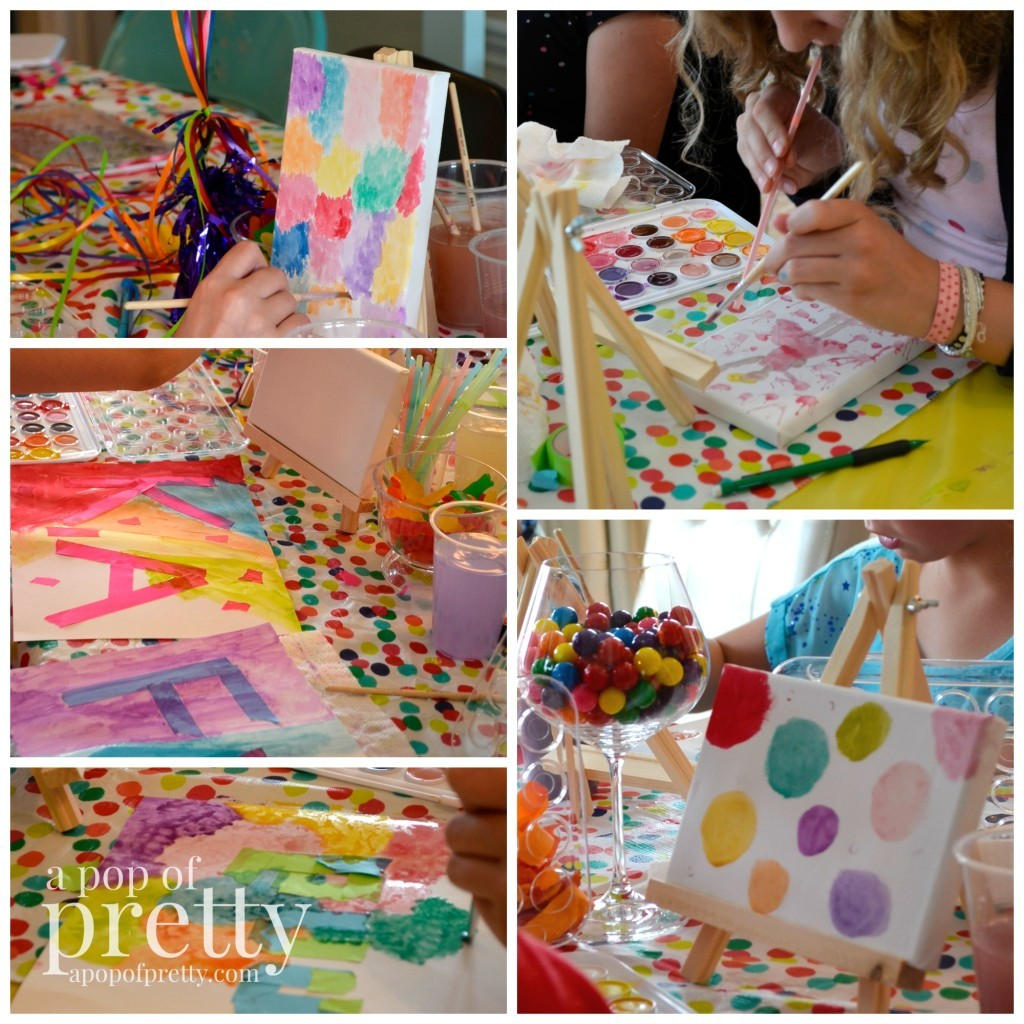Birthday ideas fun 39 art theme 39 party for girls a pop of for Fun blog ideas