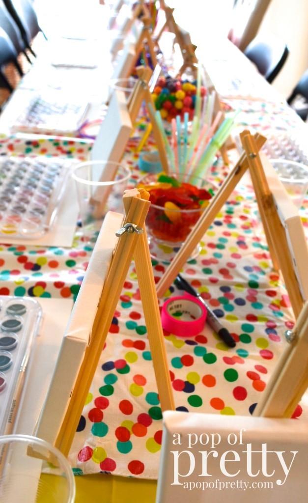 art theme birthday ideas