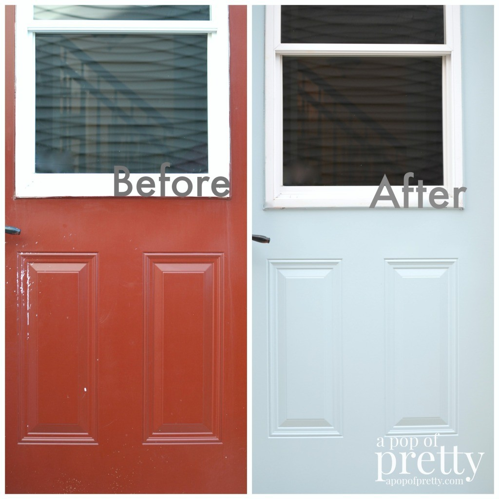 Behr Marquee Dayflower Front Door Update A Pop Of Pretty Blog Canadian Home Decorating Blog