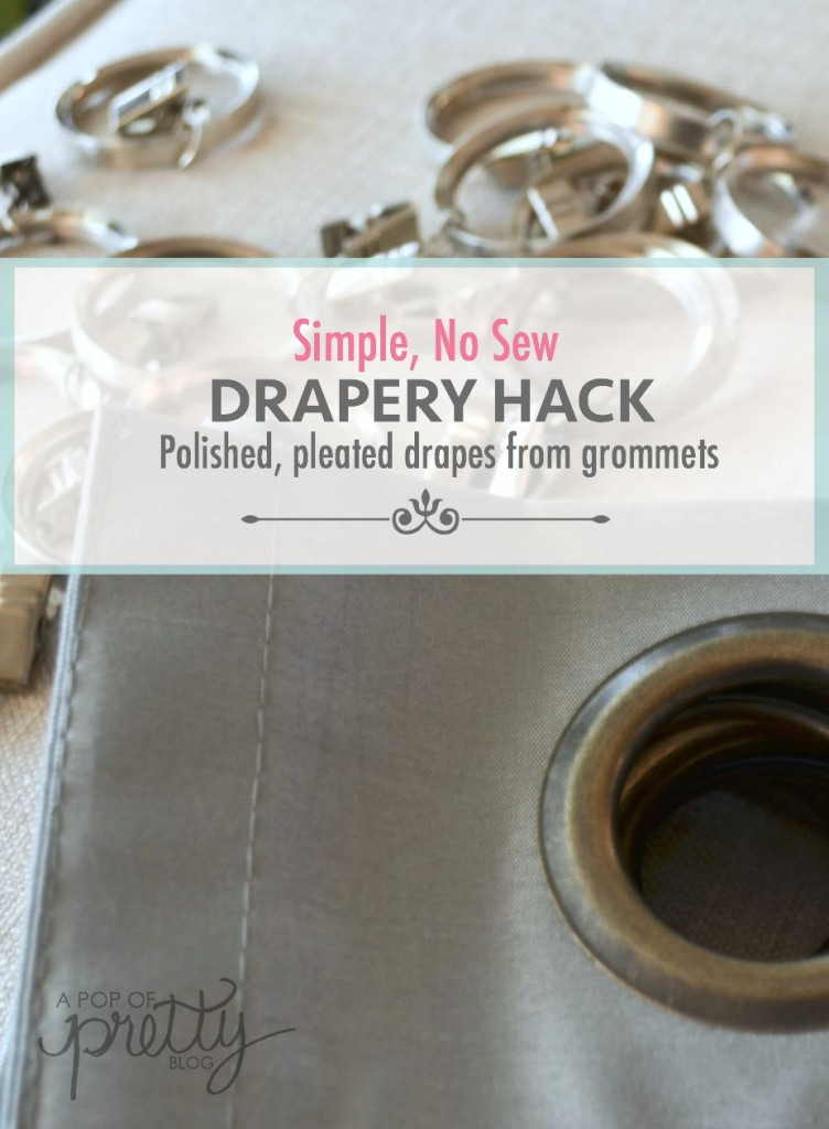 Curtain Hack Tutorial No Sew Pleated Drapes From