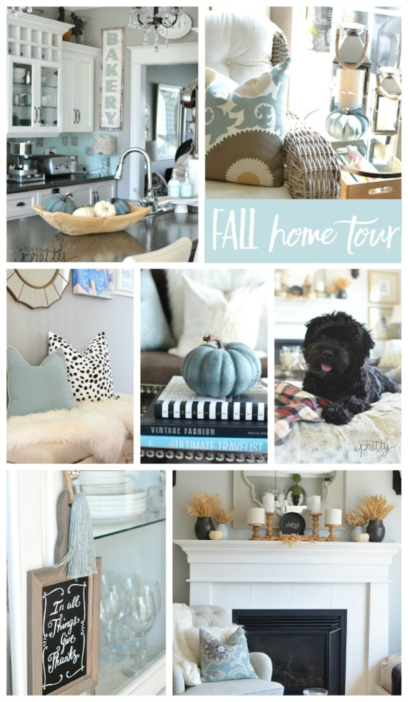 The Canadian Bloggers Home Tours (Fall Decorating) - Featured: A Pop of Pretty Blog