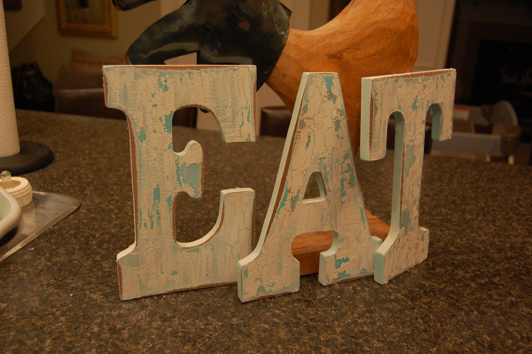 Vintage-Inspired EAT Letters - A Pop of Pretty Home Decor Ideas on eat in galley kitchen designs, eat in dining room, eat at kitchen islands, dining room ideas, eat in kitchen countertops, eat in kitchens with bench seating, eat in kitchen cabinets, eat in kitchen with bay window, eat at island designs, eat on kitchen island, eat in kitchen makeovers, eat in small kitchens, eat in breakfast ideas, eat in kitchen light, eat in kitchen lighting, eat in country kitchen designs, eat in kitchen tables, eat in kitchen plans, eat in kitchen layouts,