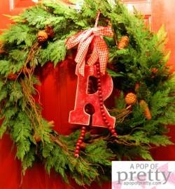 Christmas mongram wreath, with my own twist