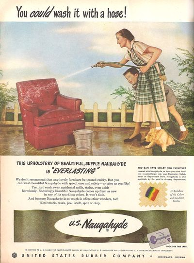 Vintage Decor Ad (2 of 31): Upholstery you can hose down!