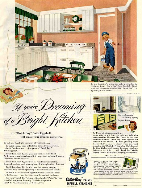 interior decorating ad from 1950s