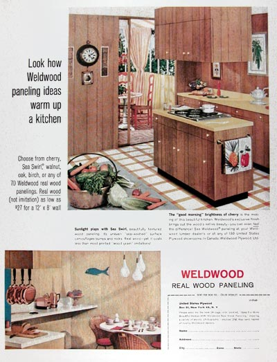Vintage Wood Paneling: 1960s Ad For Wood Paneling (Vintage Home Decor Ad 17 Of 31