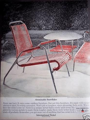 Vintage Decor Ad (4 of 31): Gorgeous 1960s retro patio chair