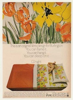 Gorgeous 'Vera Neumann' bed sheets from the decade style forgot: Vintage Decor Ad 12 of 31