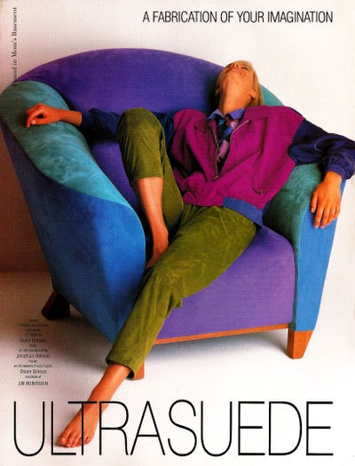 Vintage Home Decor Ad 26 (of 31): The '90s Signature Fabric: Microsuede!