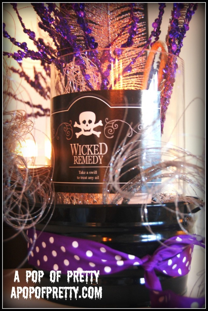 Whimsical Halloween Mantel - witch brew