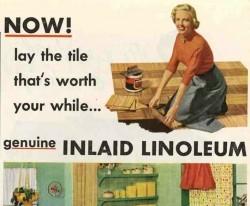 Vintage Home Decor Ads (Day 6 of 31): 1950s Linoleum Floor Tile