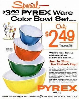 Vintage Home Decor Ad (5 of 31): Vintage Pyrex Nesting Bowls