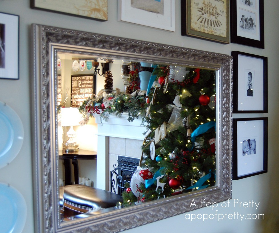 Red Turquoise Not Just For Holiday Decor: Red & Turquoise Christmas Decor: My 2011 House Tour!