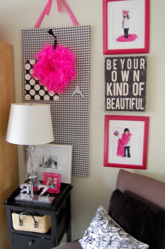 My Pink Amp Black Craft Room Office Room Tour Update A