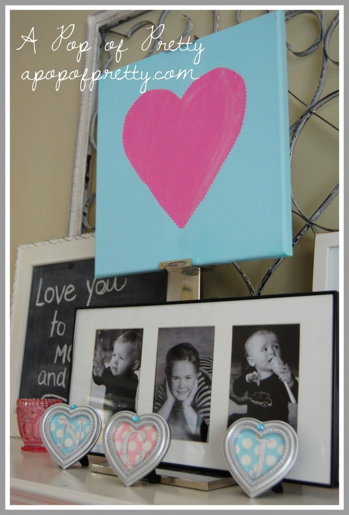 DIY Valentines Day Mantel