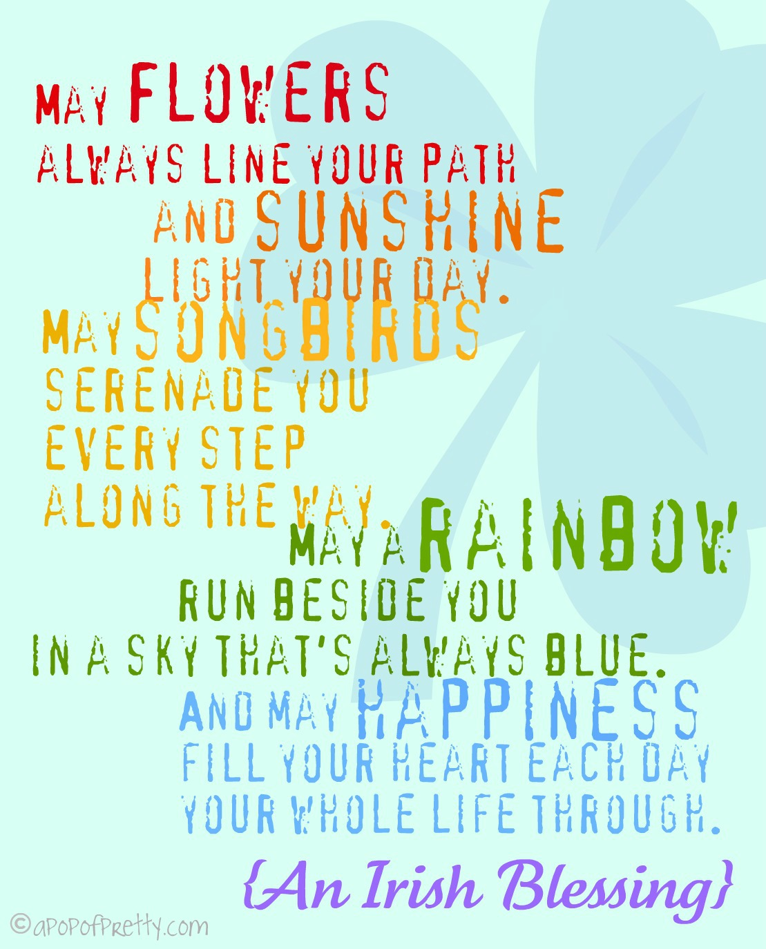 st patrick's day printable - May Flowers Always Line Your Path