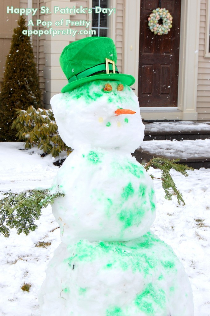 Celebrating With A Green Snowman St Patrick S Day A